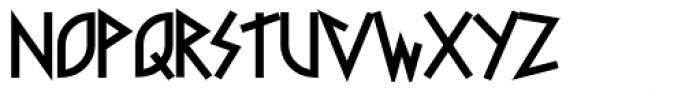 Faux Runic Bold Font LOWERCASE