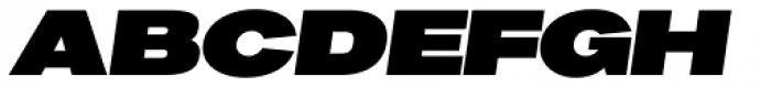 Favela Black Italic Font UPPERCASE