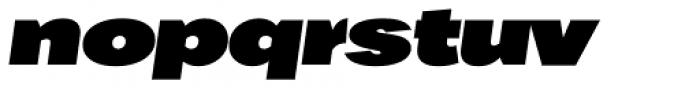 Favela Black Italic Font LOWERCASE