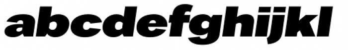 Favela Bold Italic Font LOWERCASE