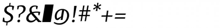 Fazeta Caption Italic Font OTHER CHARS