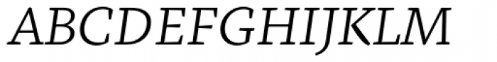 Fazeta Caption Light Italic Font UPPERCASE