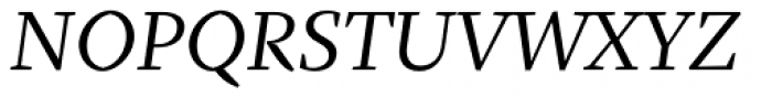 Fazeta Text Italic Font UPPERCASE