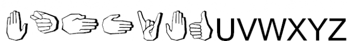 FastFingers Regular Font UPPERCASE