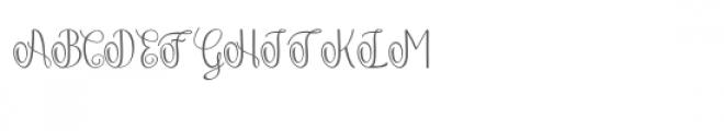 Falisha 01 Font UPPERCASE