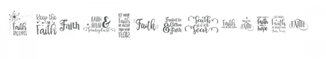 faithful inspiration quote font Font LOWERCASE