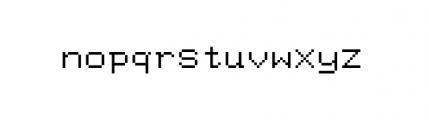 Facsimile (plain) Font LOWERCASE