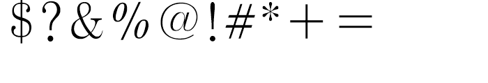 FB Blue Ming Light Font OTHER CHARS