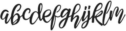 Febiolla Regular otf (400) Font LOWERCASE