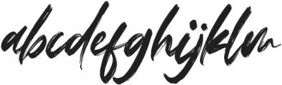 Fedattona Italic otf (400) Font LOWERCASE