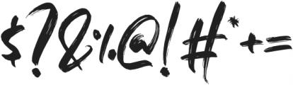 Fedattona otf (400) Font OTHER CHARS