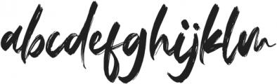 Fedattona otf (400) Font LOWERCASE