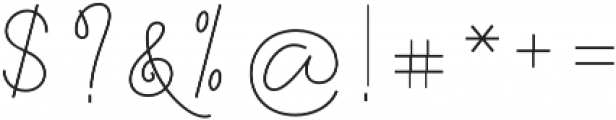 Felicity Script Regular otf (400) Font OTHER CHARS