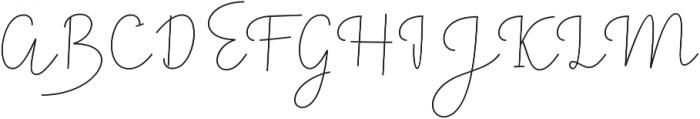 Felicity Script Regular otf (400) Font UPPERCASE