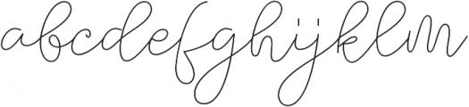 Felicity Script Regular otf (400) Font LOWERCASE