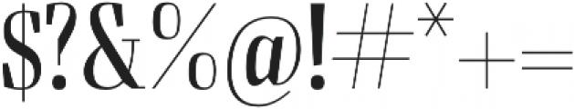 Felis Light Condensed otf (300) Font OTHER CHARS