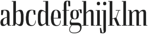 Felis Light Condensed otf (300) Font LOWERCASE
