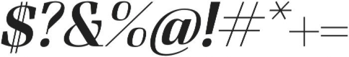 FelisItalic otf (400) Font OTHER CHARS