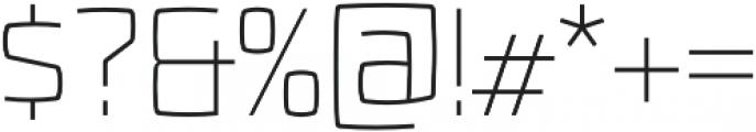 Fenton ExtraLight otf (200) Font OTHER CHARS