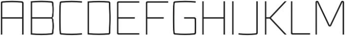 Fenton ExtraLight otf (200) Font UPPERCASE