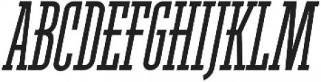 Ferguson Condensed Italic otf (400) Font UPPERCASE