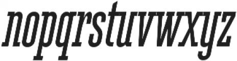 Ferguson Condensed Italic otf (400) Font LOWERCASE