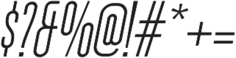 Ferguson Condensed Light Italic otf (300) Font OTHER CHARS