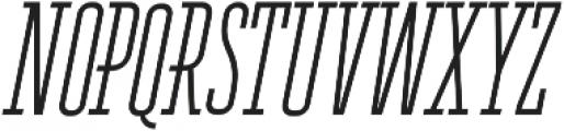 Ferguson Condensed Light Italic otf (300) Font UPPERCASE