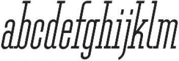 Ferguson Condensed Light Italic otf (300) Font LOWERCASE
