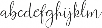 Ferinitta otf (400) Font LOWERCASE