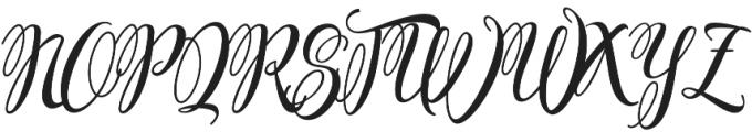 Ferrine Script Regular otf (400) Font UPPERCASE