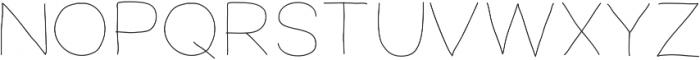 FerventSansExtraLight ttf (200) Font UPPERCASE