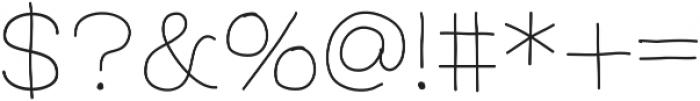 FerventSansRegular ttf (400) Font OTHER CHARS