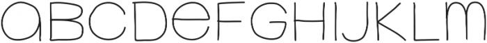 FerventSansRegular ttf (400) Font LOWERCASE