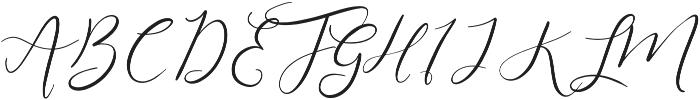 Festive Script Pure ttf (400) Font UPPERCASE