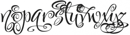 FestiveFive otf (400) Font LOWERCASE