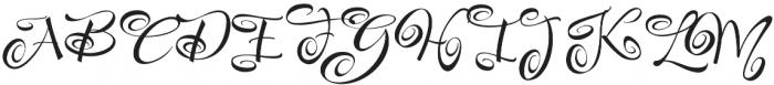 FestiveFour otf (400) Font UPPERCASE