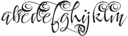 FestiveFour otf (400) Font LOWERCASE