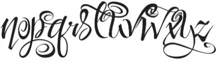 FestiveNine otf (400) Font LOWERCASE