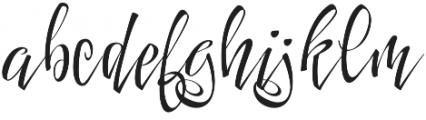 FestiveOne otf (400) Font LOWERCASE