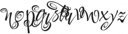 FestiveSeven otf (400) Font LOWERCASE