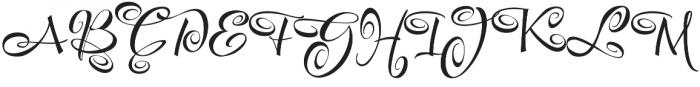 FestiveSix otf (400) Font UPPERCASE