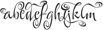 FestiveSix otf (400) Font LOWERCASE