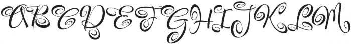 FestiveTen otf (400) Font UPPERCASE
