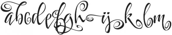 FestiveTen otf (400) Font LOWERCASE