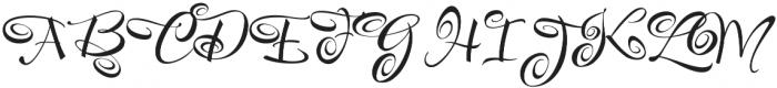 FestiveThree otf (400) Font UPPERCASE