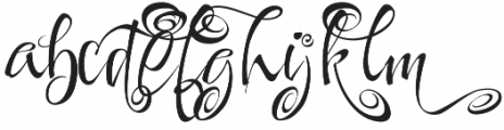 FestiveThree otf (400) Font LOWERCASE