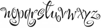 FestiveTwo otf (400) Font LOWERCASE
