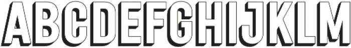 Festivo Clean 3D2 otf (400) Font UPPERCASE