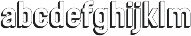 Festivo Clean 3D2 otf (400) Font LOWERCASE